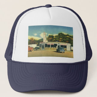 Vintage Restaurant, 50s Drive In Diner and Cars Trucker Hat