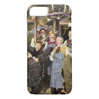Vintage Restaurant Bar People Celebrating Party iPhone 7 Case