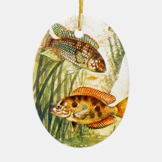 Vintage Restored Fish Christmas Ornaments