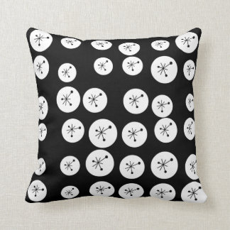 VINTAGE RETRO 50'S ATOMIC STARBURST CIRCLE PILLOW
