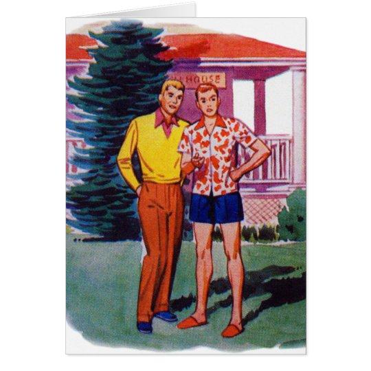 Vintage Retro 50s Gay Men Bob and Rob Card