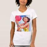 Vintage Retro 60s Beach Ball Girl Kitsch T-shirts