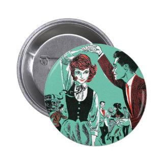Vintage Retro 60s Teens Dancing Kitsch Book Art 6 Cm Round Badge
