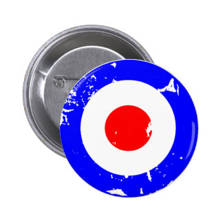 Vintage Retro Aged Mod Target Pinback Buttons