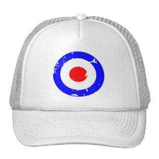 Vintage Retro Aged Mod Target Cap