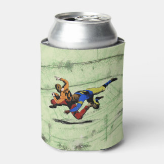 Vintage Retro American Football Players Old Comics Can Cooler