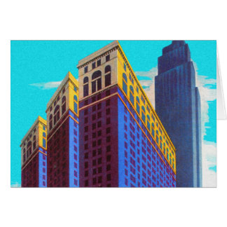 Vintage Retro Architecture Sky Scarper New York Card