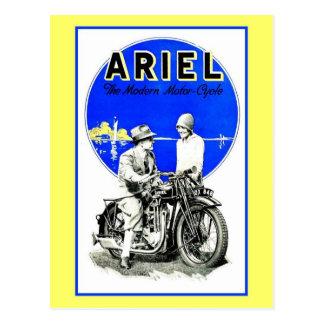 Vintage retro Ariel motorcycles ad Postcard