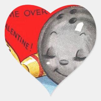 Vintage Retro Art Valentine's Day Heart Sticker