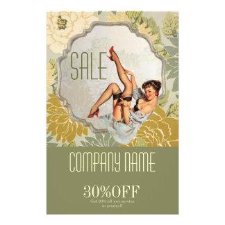 vintage retro beauty hair salon makeup artist 14 cm x 21.5 cm flyer
