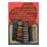 Vintage Retro Book Lovers Valentine Card