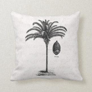 Vintage Retro Brazilian Palm Tree Template Palms Cushion
