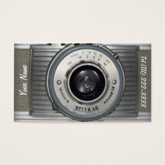 Vintage Retro Camera Business Card