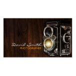 Vintage/Retro camera Plantilla De Tarjeta De Negocio