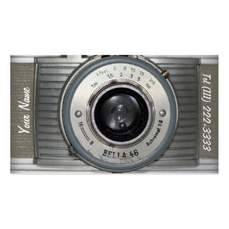 Vintage Retro Camera Pack Of Standard Business Cards