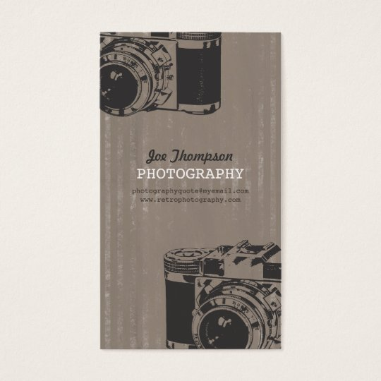 Vintage Retro Camera Photography Business Cards