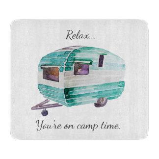 Vintage Retro Camper Camping Cutting Board