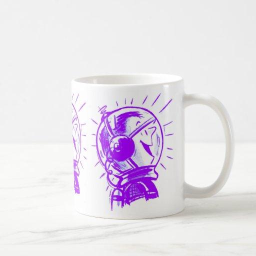Vintage Retro Cartoon Sci Fi 'Happy Spaceman' Coffee Mug