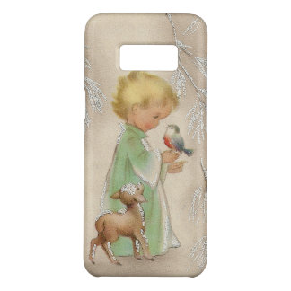 Vintage retro child deer Samsung S8 case