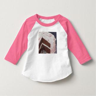 Vintage Retro Chocolate Cake Pink Icing T-Shirt