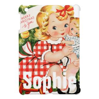 Vintage/Retro Christmas Child Scene Personnalised iPad Mini Case