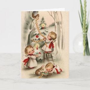 Vintage christmas cards zazzle uk vintage retro christmas greeting card m4hsunfo