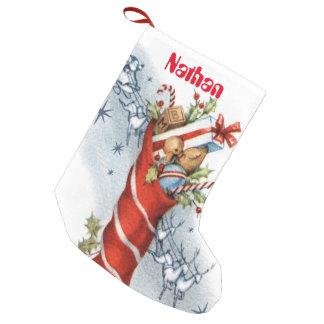 Vintage retro Christmas Holiday stocking