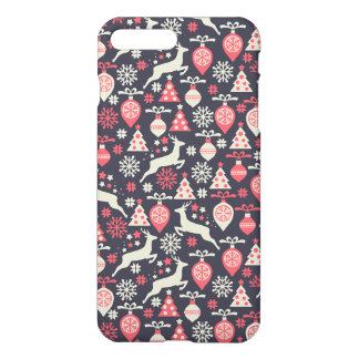 Vintage Retro Christmas Pattern Holiday iPhone 8 Plus/7 Plus Case