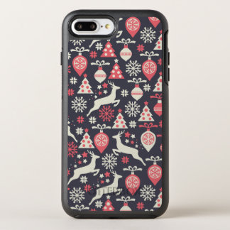 Vintage Retro Christmas Pattern Holiday OtterBox Symmetry iPhone 8 Plus/7 Plus Case