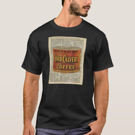 Vintage Retro Coffee Can On Old Encyclopaedia Page T-Shirt