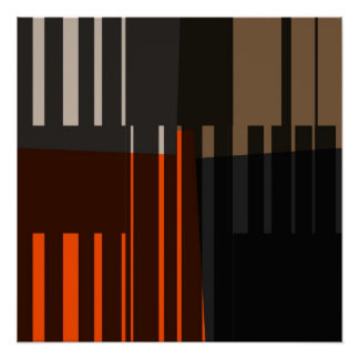Vintage Retro Colorful Stripes Art Pattern Poster