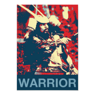 Vintage Retro Cool Samurai Warrior Martial Artist 13 Cm X 18 Cm Invitation Card
