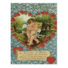 Vintage Retro Cupids Kissing Valentine Card