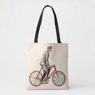 Vintage/Retro Cyclist Tote Bag