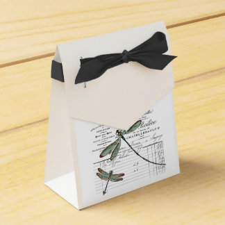 Vintage, Retro Design France - dragonfly, insect Favour Box