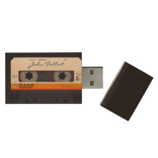 Vintage Retro Fashioned 80s Mixtape Audio Tape USB Wood USB 2.0 Flash Drive