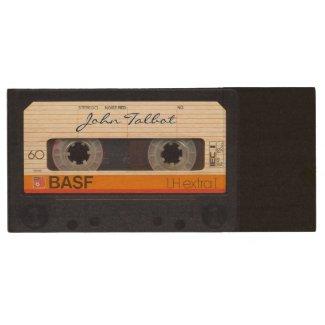 Vintage Retro Fashioned 80s Mixtape Audio Tape USB