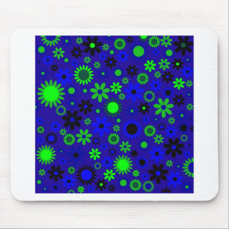 VIntage Retro Flower Power Pattern Image Mouse Pad