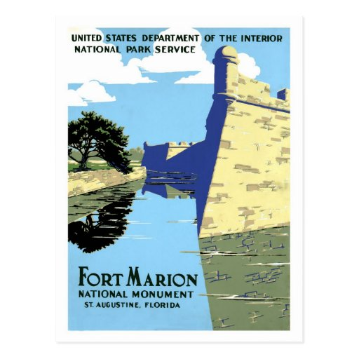 Vintage retro Fort Marion St. Augustine travel Post Cards