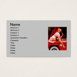 Vintage Retro Gil Elvgren Car Mechanic Pinup Girl Business Card