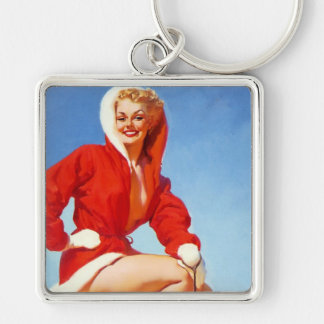Vintage Retro Gil Elvgren Christmas Pin UP Girl Key Chains