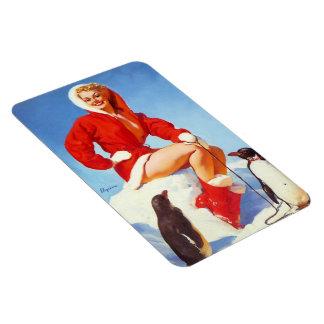 Vintage Retro Gil Elvgren Christmas Pin UP Girl Magnets