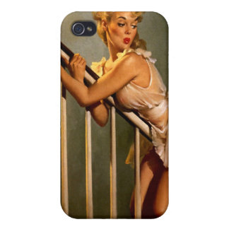 Vintage Retro Gil Elvgren Classic Pin Up Girl Cases For iPhone 4
