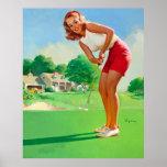 Vintage Retro Gil Elvgren Golf Pinup Girl Posters