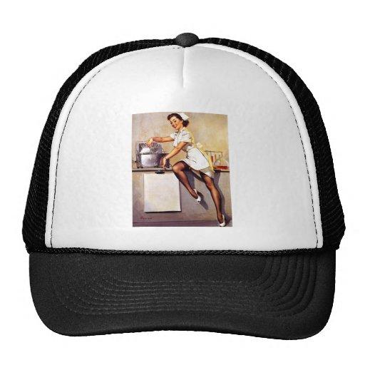 Vintage Retro Gil Elvgren Nurse Pin Up Girl Hat