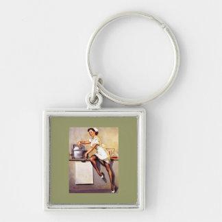Vintage Retro Gil Elvgren Nurse Pin Up Girl Keychains