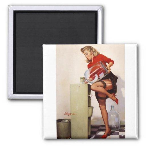 Vintage Retro Gil Elvgren Office Pinup Girl Magnets