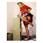 Vintage Retro Gil Elvgren Office Pinup Girl Post Cards