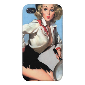 Vintage Retro Gil Elvgren Pin Up Girl Covers For iPhone 4