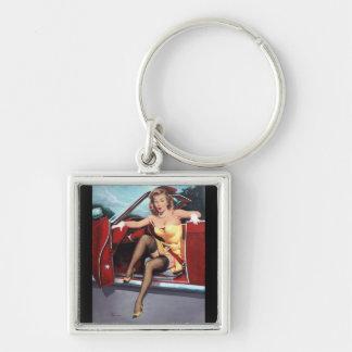 Vintage Retro Gil Elvgren Pin Up Girl Key Chains